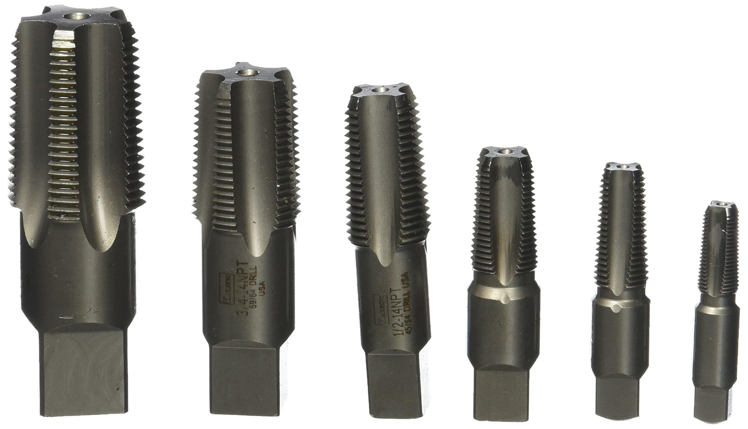 Irwin Industrial Tools 1921ZR Taper Pipe Tap Set, 6-Piece