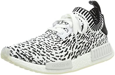 Mens Adidas Nmd R1 Prime Knit Core White Mono Uk Size 7