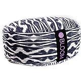 BLOOM Zafu Meditation Pillow Cushion, Round Yoga Bolster - Adjustable Buckwheat Hull Fill, Premium Cotton, Removable Washable Case, Carry Handle, Zipper