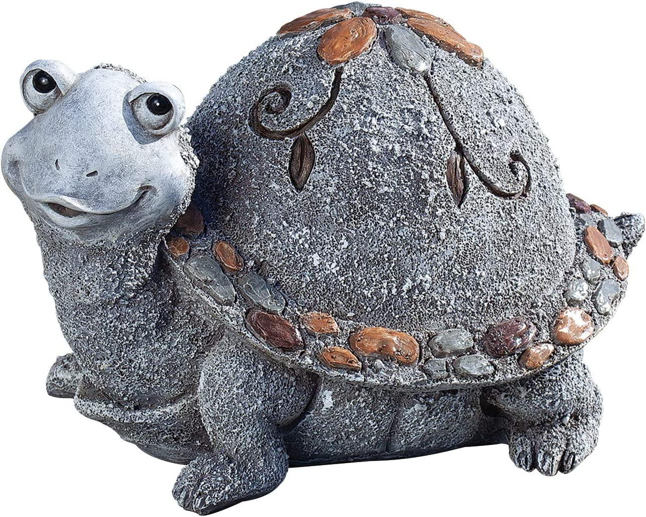 Roman Garden - Pebble Turtle Statue, 6H, Garden Collection, Resin and Stone, Decorative, Garden Gift, Home Outdoor Decor, Durable, Long Lasting