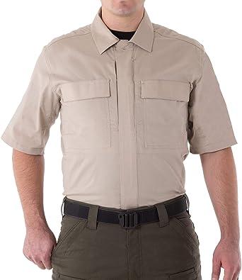 First Tactical Hombre V2 Manga Corta BDU Camisa Caqui: Amazon ...
