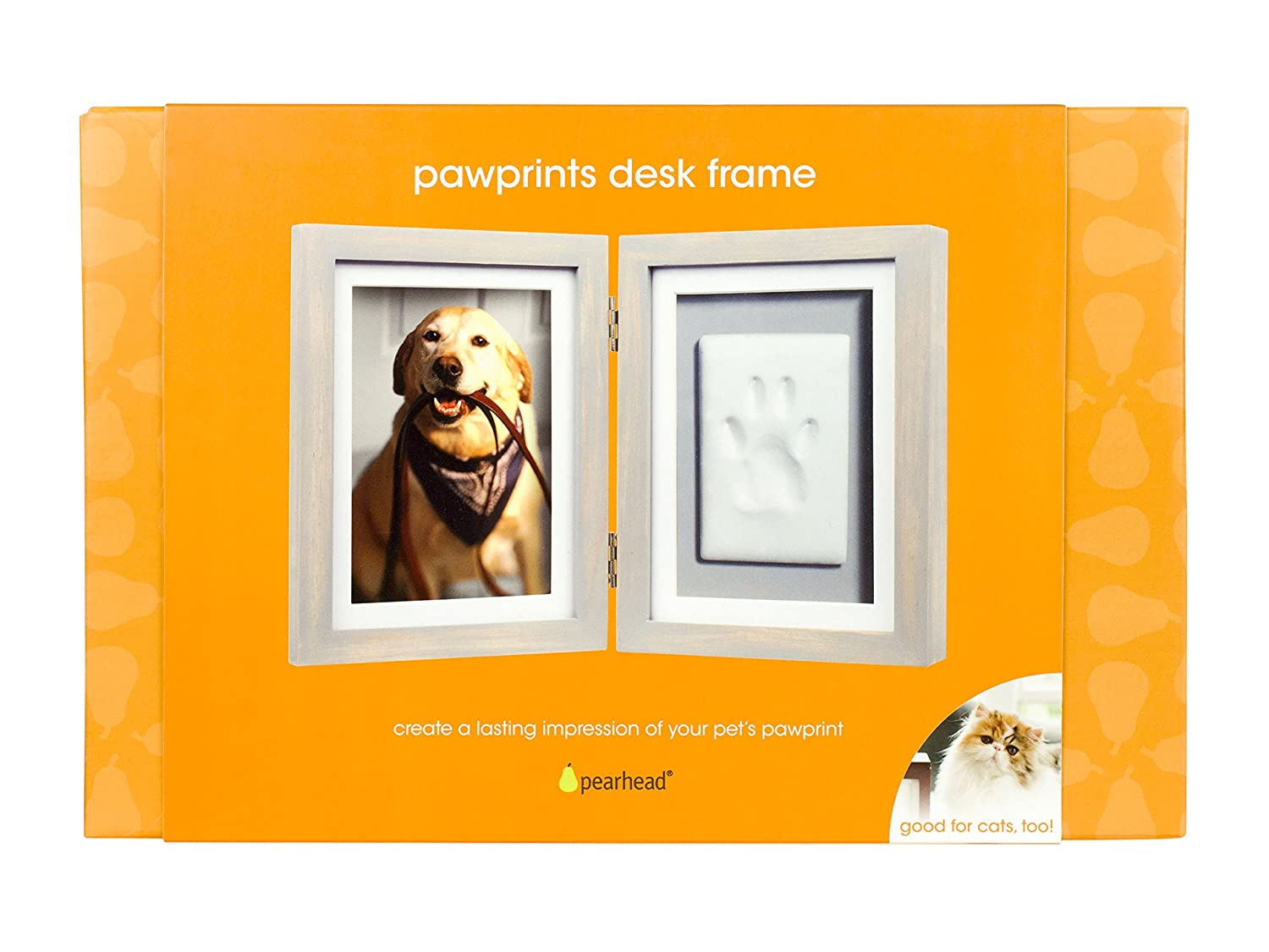 Pearhead Pet Paw Prints Dog or Cat Desk Frame with Inlucded Imprint Kit Pefect Pet Keepsake