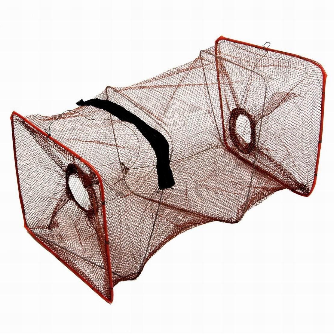 ugtell 19.9高さ2セクション折りたたみ魚Shrimpケージ釣りKeepnet B074K2GT4N