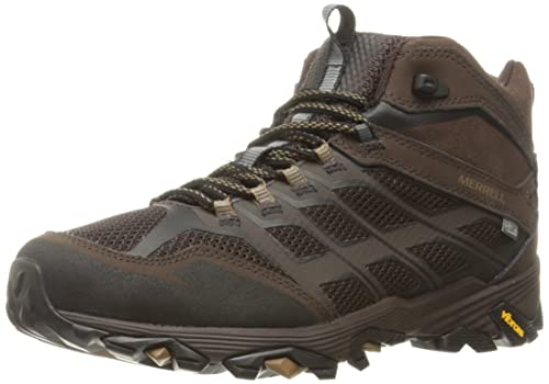 92471f63d14 Merrell Men s Moab FST Mid Waterproof Wide Hiking Shoe
