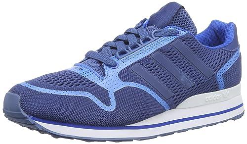 Adidas ZX 500 Techfit - Zapatillas para Hombre, Color Azul (Ash Blue s15-st/bluebird/ftwr White), Talla 45 1/3