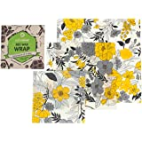 Natural Beeswax Wrap - Plastic Alternative - Reusable Wraps - Healthy And Eco Friendly - Assorted Of 3 Sizes (large-medium-small) - All Ingredients Are 100% Organic