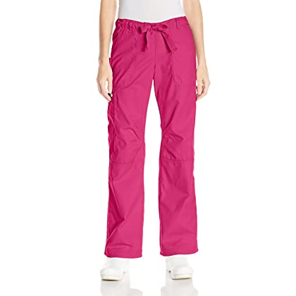 4490bc78ec2 KOI Women's Lindsey Ultra Comfortable Cargo Style Scrub Pants, Lipstick,  Medium