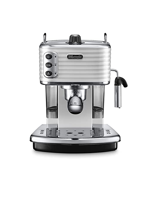 DeLonghi Scultura Cafetera de espresso manual, Independiente, 1.4 L, 15 bares, acero inoxidable, gris