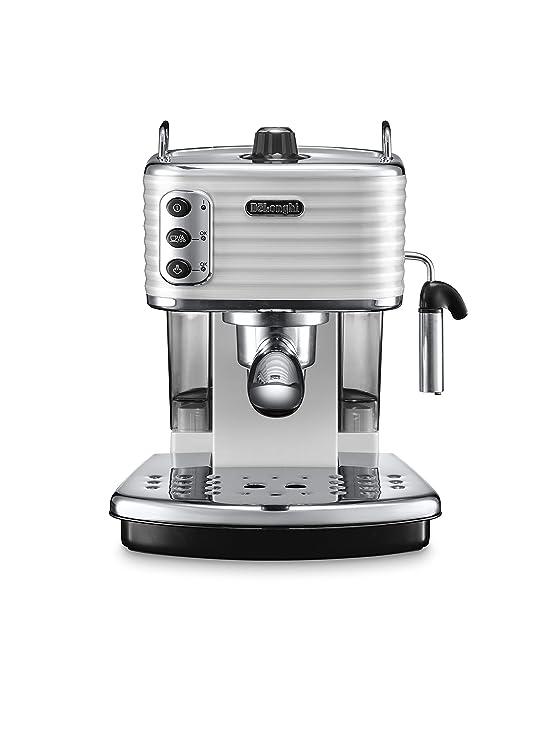 DeLonghi Scultura Cafetera de espresso manual, Independiente, 1.4 L, 15 bares, acero inoxidable, gris: Amazon.es: Hogar