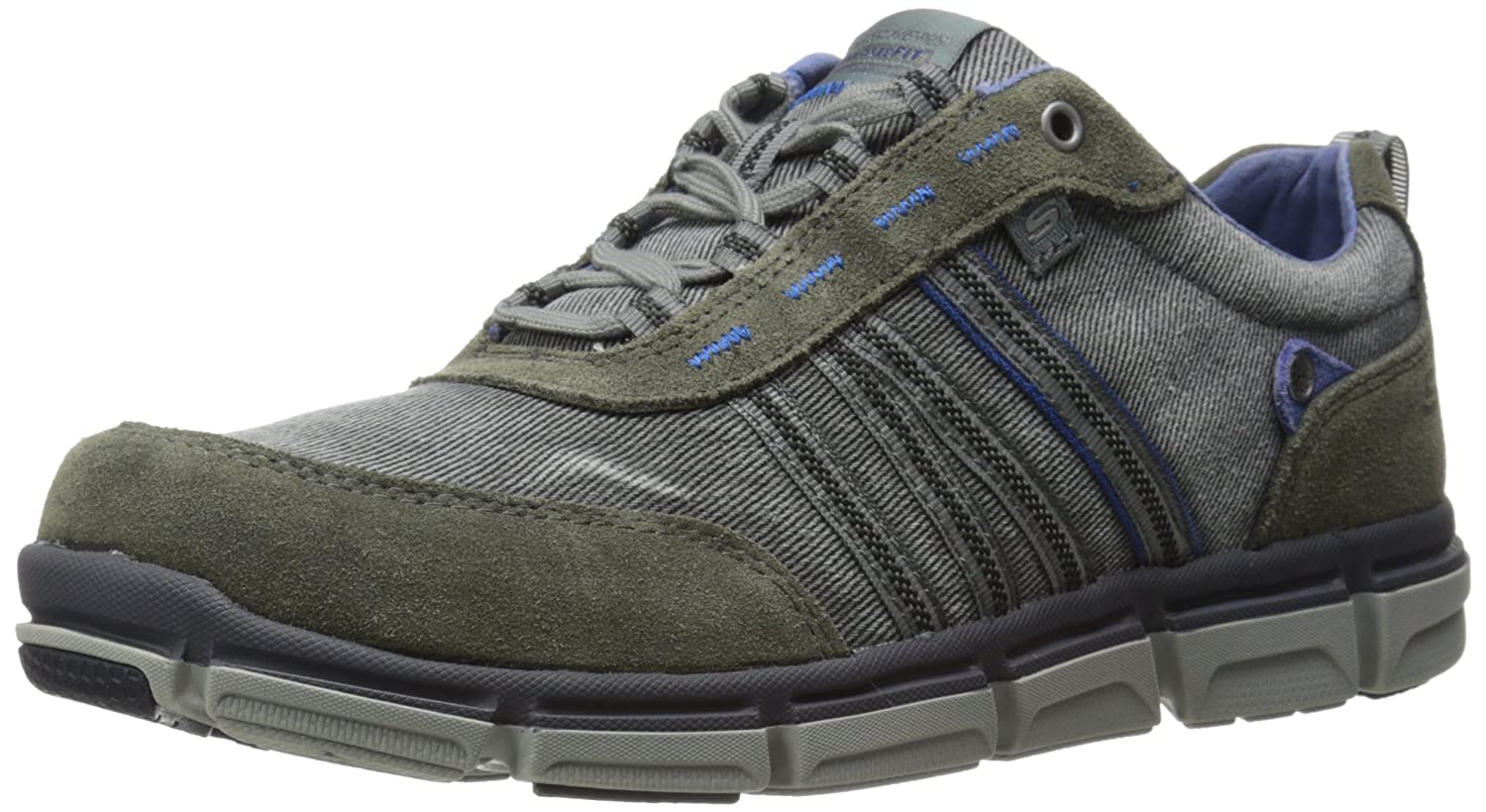 8f1565571d65 85%OFF Skechers USA Men's Broger Kenster Lace-Up Sneaker ...
