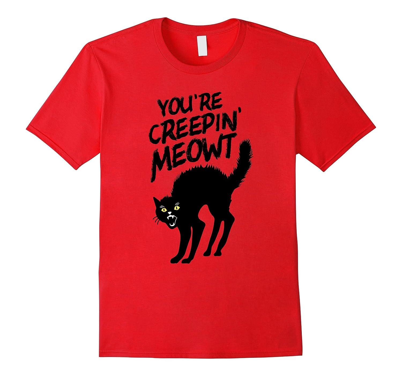 Funny Halloween Black Cat T Shirt-BN