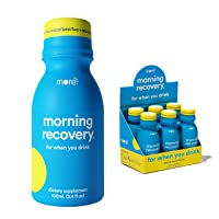 Morning Recovery: Patent-Pending Liver Detox Drink (Pack of 6) - New & Improved Original Lemon Flavor - Highly Bioavailable Liquid DHM, Milk Thistle, Electrolytes - No Artificial Flavors