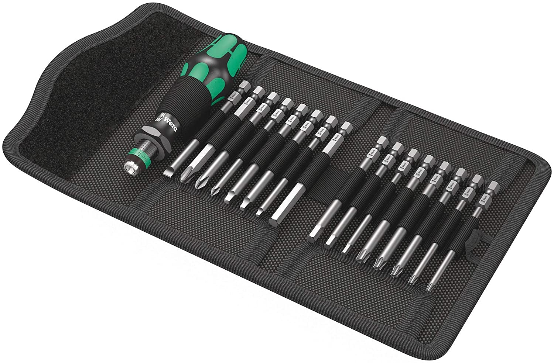 Silver Wera 05051042001 Compact Tool Set Kraftform 60 Imperial