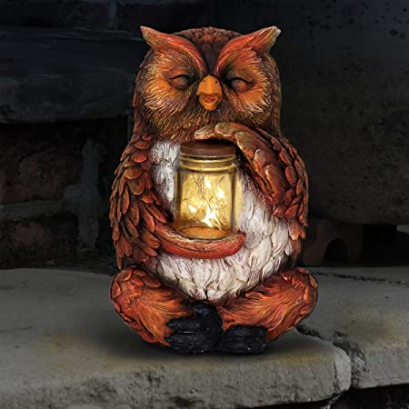 7/'/' Collectibles Statue Figures Owl Resin Patio Lawn Office Decoration Ornament