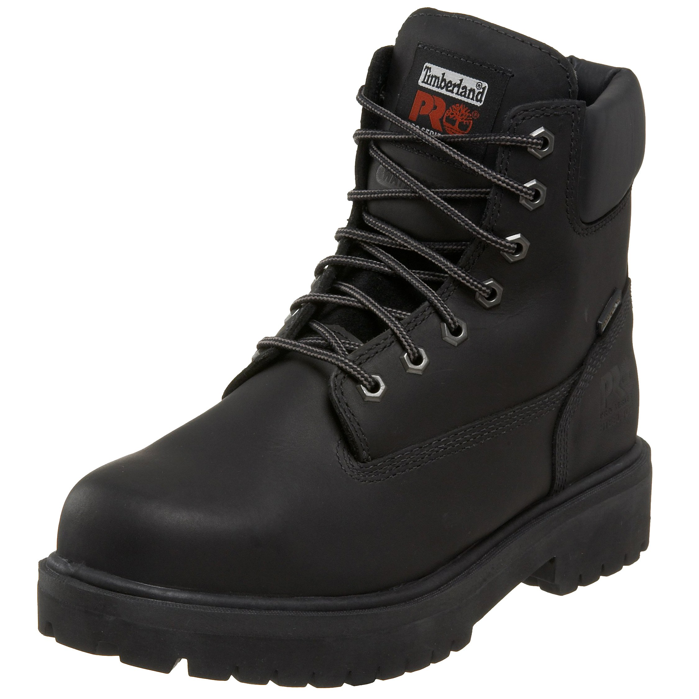 Timberland PRO Men's 26038 Direct Attach 6'' Steel Toe Boot,Black,7.5 M