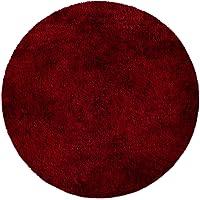 Tapis de bain en couleurs diverses | certifié Oeko-Tex 100 et lavable | diamètre 95 cm - poil très doux | forme ronde