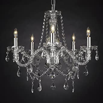Crystal chandelier lighting 5 lights h19 x wd 19 ceiling crystal chandelier lighting 5 lights h19quot x wd 19quot ceiling fixture pendant aloadofball Gallery