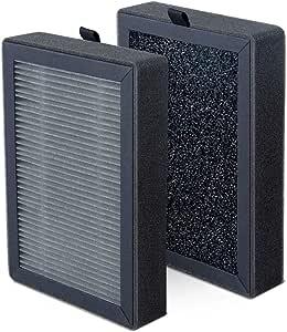 LEVOIT LV-H13EU Filtro de Repuesto para Purificador de Aire, Filtro de Carbón Activado de Alta Eficiencia, Paquete de 2, Portátil, Negro, LV-H13EU: Amazon.es: Hogar