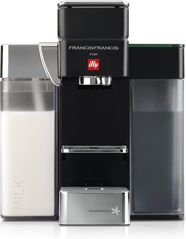 Francis Francis for Illy Y5 Milk Espresso and Coffee Machine Black by Francis Francis for illy: Amazon.es: Hogar