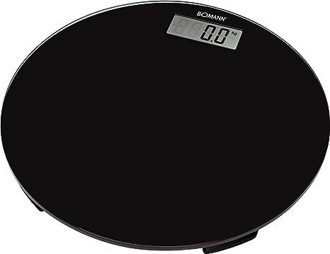 Bomann PW 1418 CB - Báscula circular, color negro