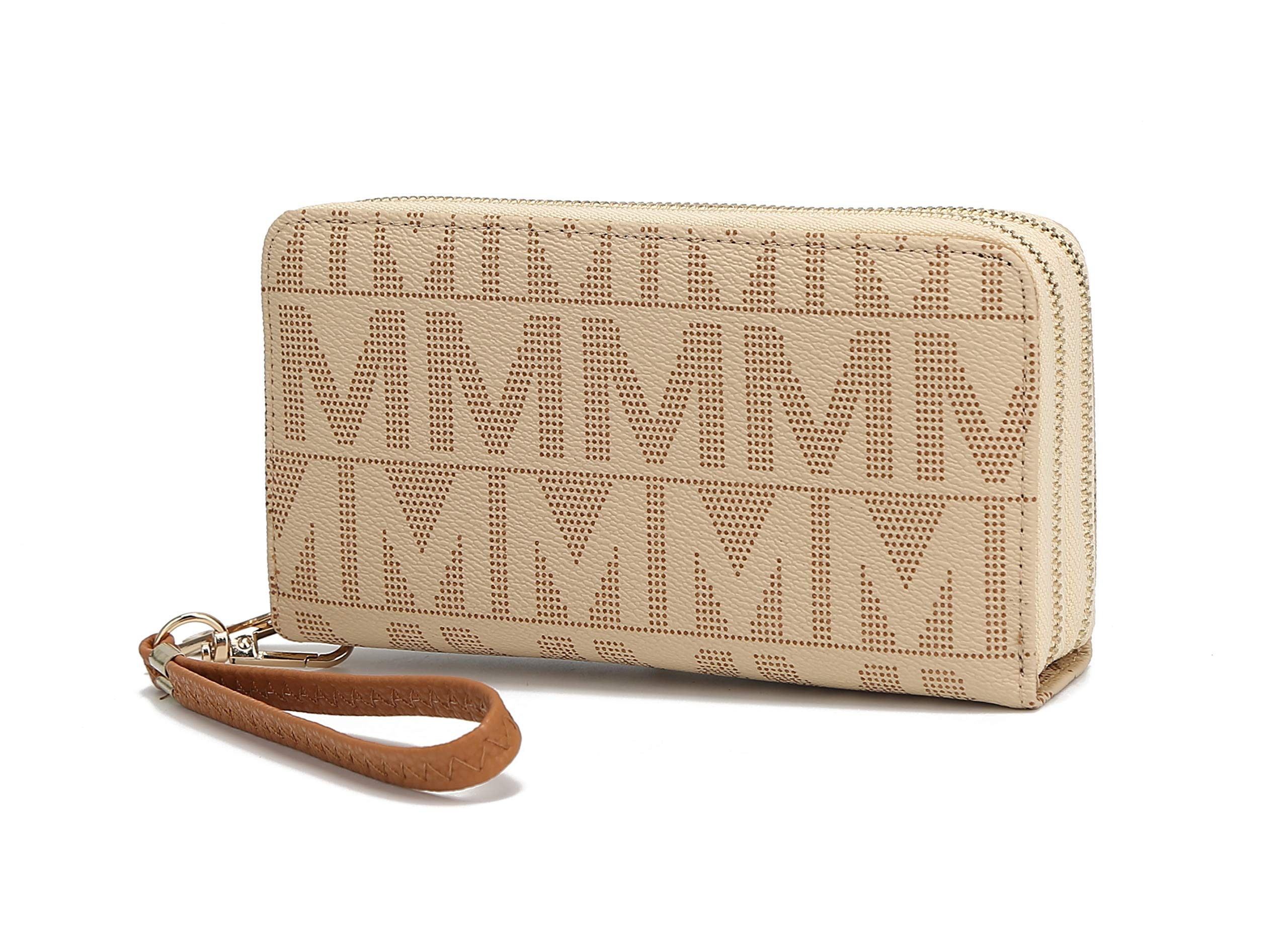 Mia K. Collection Wristlet Wallet for Women Small PU Leather Handbag - Double Zipper Bag Multi Pocket clutch Purse