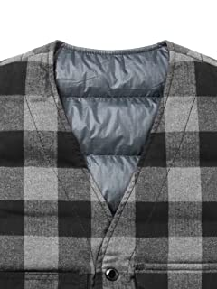 Reversible Mackinaw Vest 11-06-0326-120: Grey / Navy