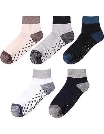 Elfin-Lore 5 Paires Chaussettes de Yoga Antidérapant Prévention Chute  Chaussette en Coton pour Yoga e59861f11ef