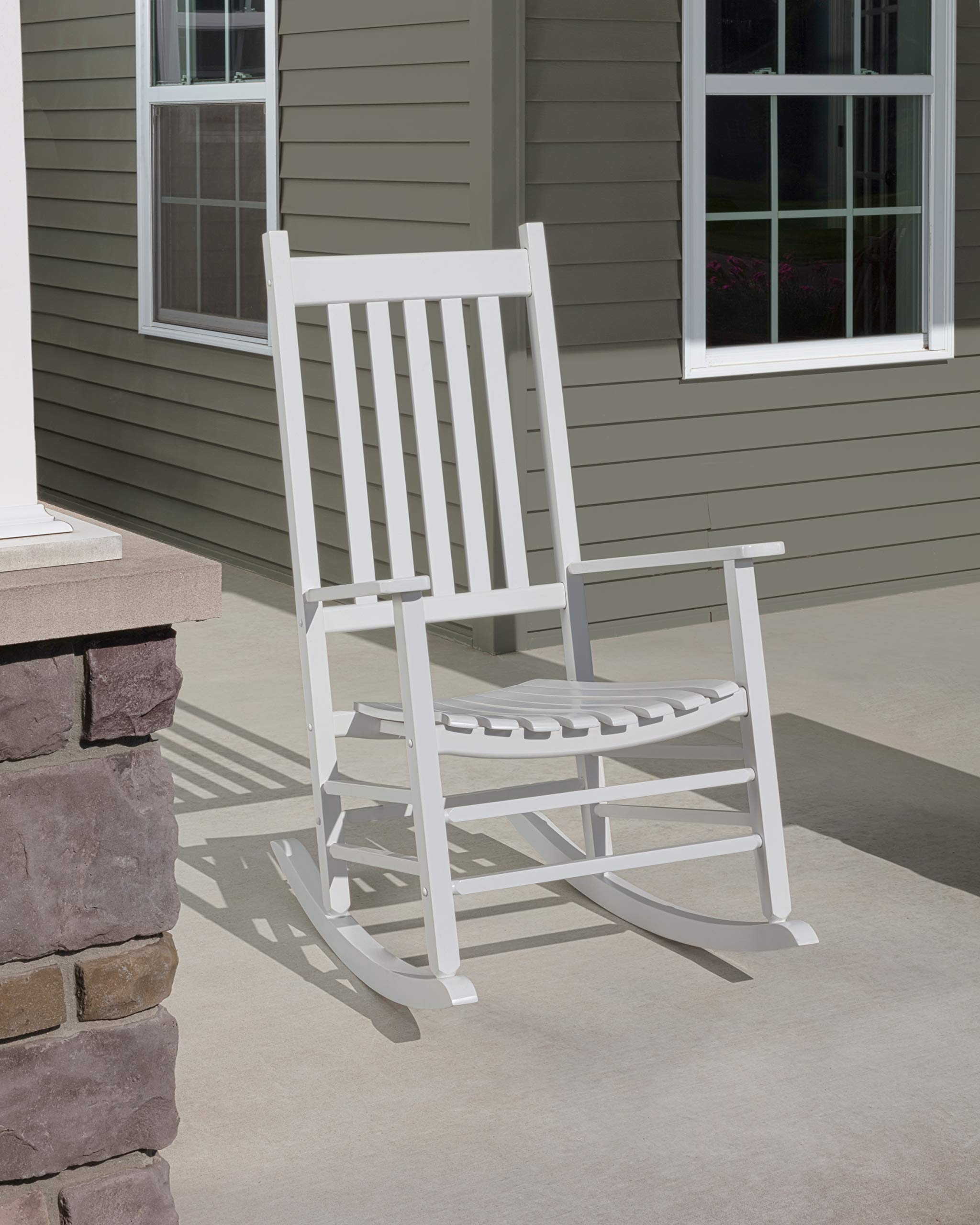 Jack-Post Knollwood Porch Rocker, White by Jack Post