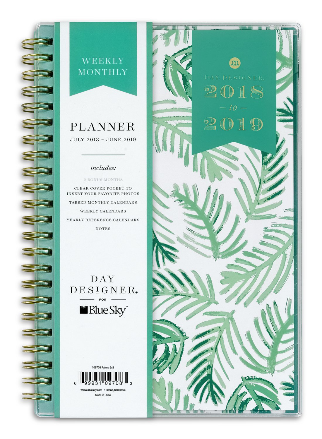 Amazon.com : Day Designer for Blue Sky 2018-2019 Academic Year ...