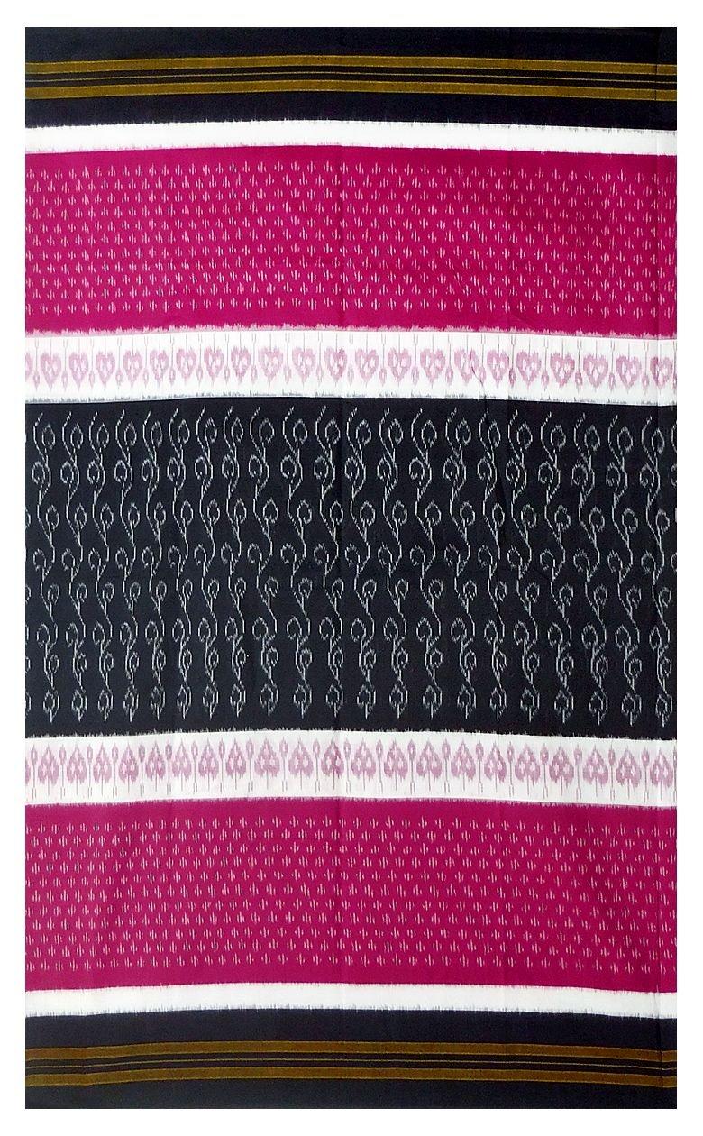 DollsofIndia Ikkat Design on Orissa Cotton Saree (OX53) - Black, Red, White by DollsofIndia (Image #2)