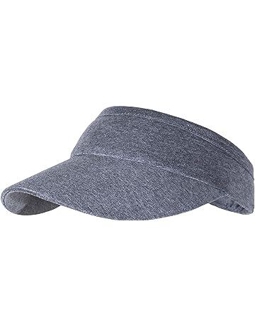 767bbfeb Non-Clip Comfortable Sun Visors for Women & Men, Cotton Elastic Tennis Cap