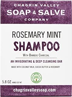 product image for Organic Natural Shampoo Bar, Rosemary Mint Charcoal, Chagrin Valley Soap & Salve