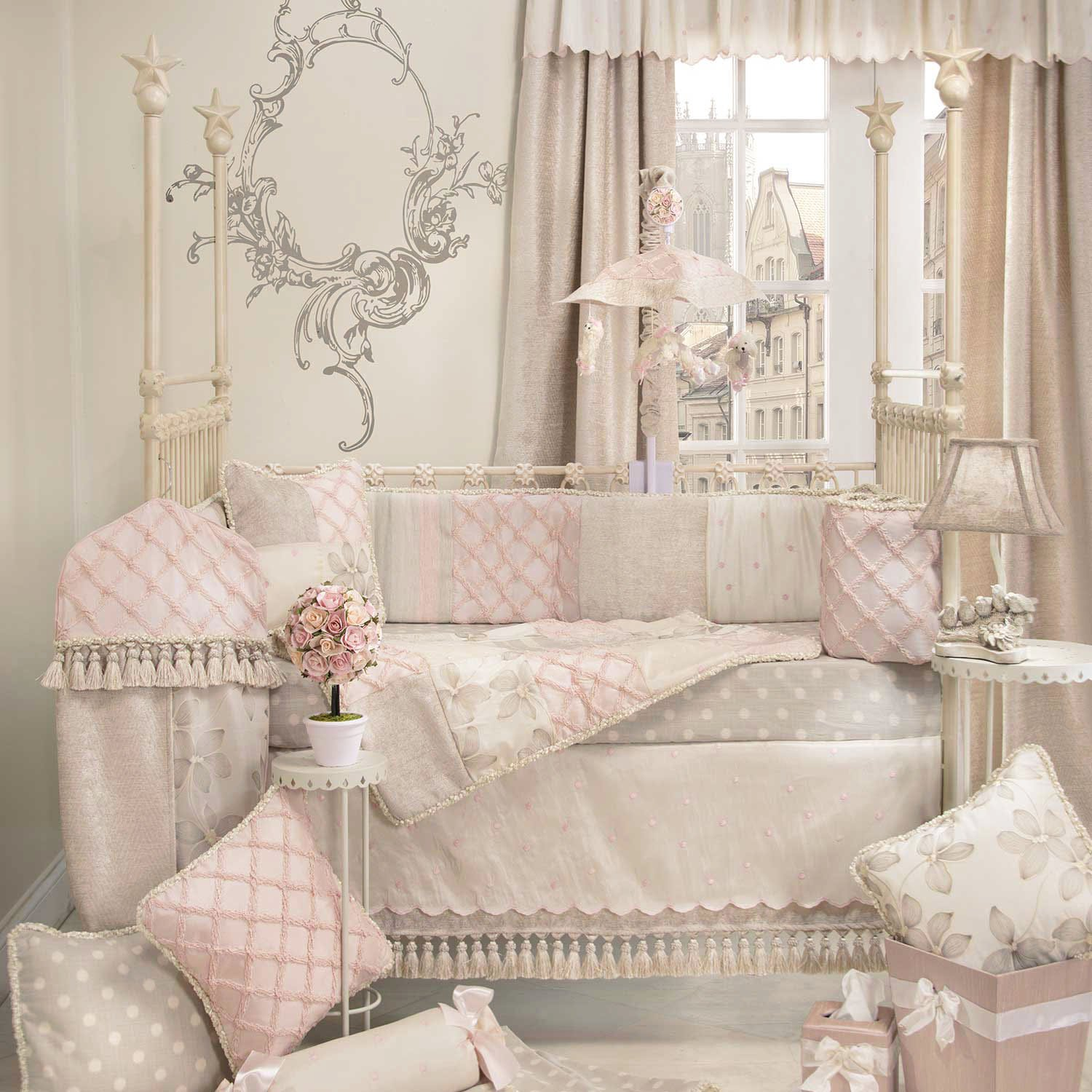 Delightful Amazon.com : Florence 4 Piece Baby Crib Bedding Set With Bumper By Glenna  Jean : Baby