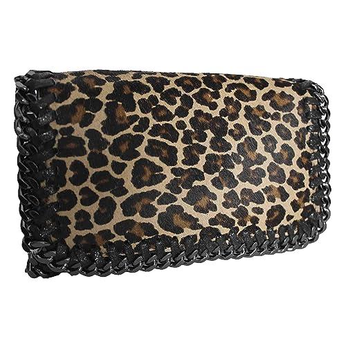 5f1d774376 FERETI Borsa Leopardate Leopardo Pantera In Cuoio Per Donna Animal Stampa  Pelle Cuoio: Amazon.it: Scarpe e borse