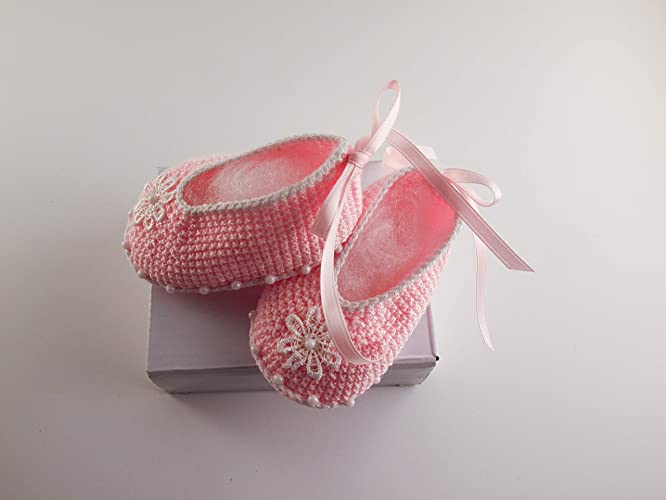 Amazoncom Baby Girl Ballerina Newborn Shoes Crochet Baby Shoes