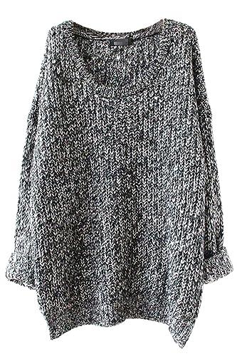 TOOGOO(R)Ropa femenina informal abrigo de sueter de prendas de punto hueco de manga larga ropa exter...