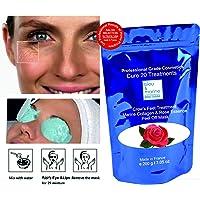 Pack 10 Masks - Eye Contour & Lips Rose Essence Peel-Off Mask (alginate) - bleumarine Bretania, 10 x 10 g pack