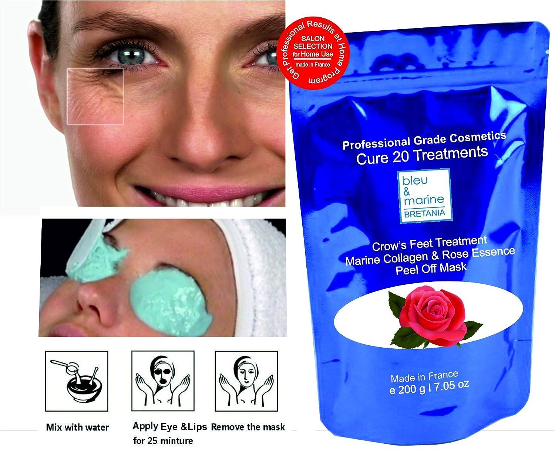 Pack 10 Masks - Eye Contour & Lips Rose Essence Peel-Off Mask ( alginate) - bleumarine Bretania, 10 x 10 g pack
