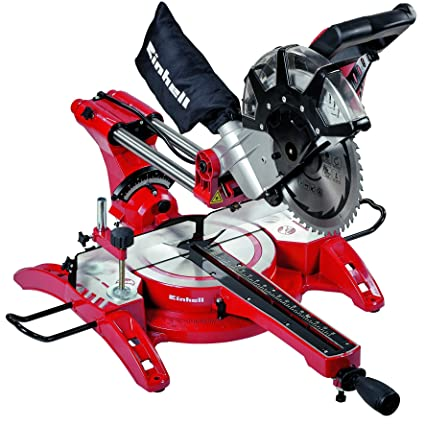 Top Einhell TH-SM 2534 2350 W Double Bevel Mitre Saw with Laser DR77