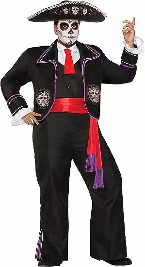 Generique - Disfraz Día de los Muertos Talla Grande Hombre XL ...