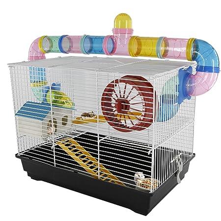 PawHut - Jaula para Hamster, Casa para Ratoncillos Roedores ...