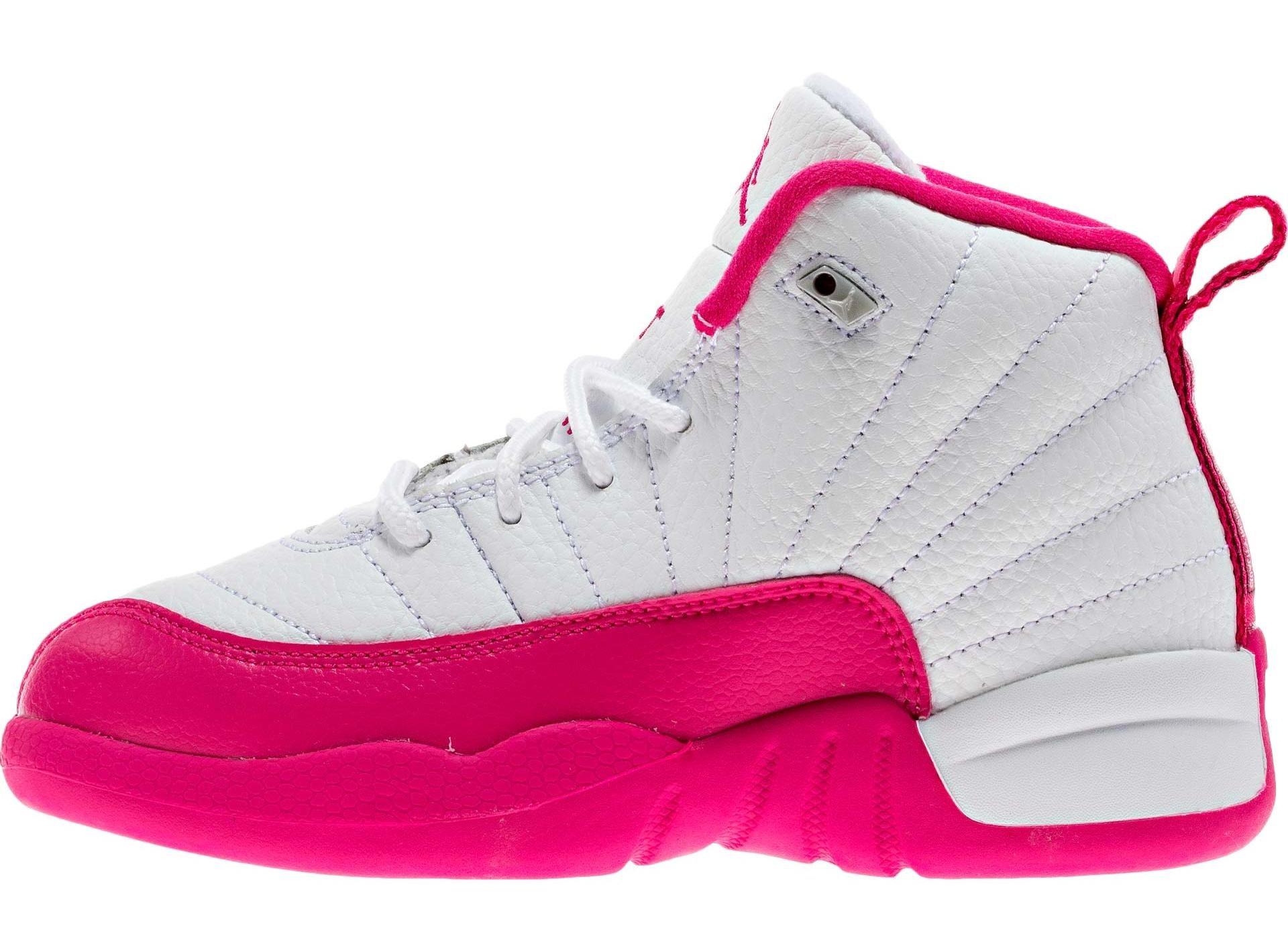 Nike Jordan Kids 12 Retro GP White / Metallic Silver / Vivid Pink 510816-109 (12.5C)