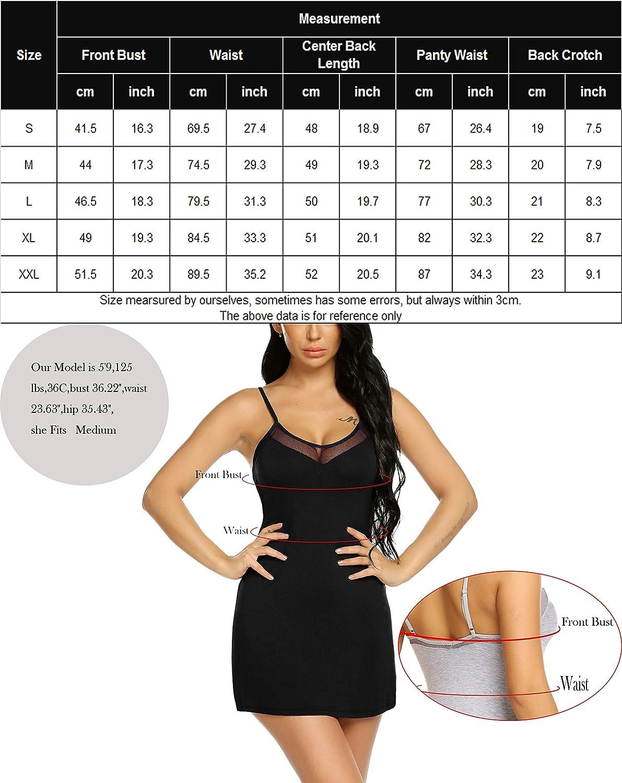 B07KM3VSXM Avidlove Women Lingerie Strap Full Slip Modal Chemise Lace Sleepwear Mini Nightgown 81G0163hNNL