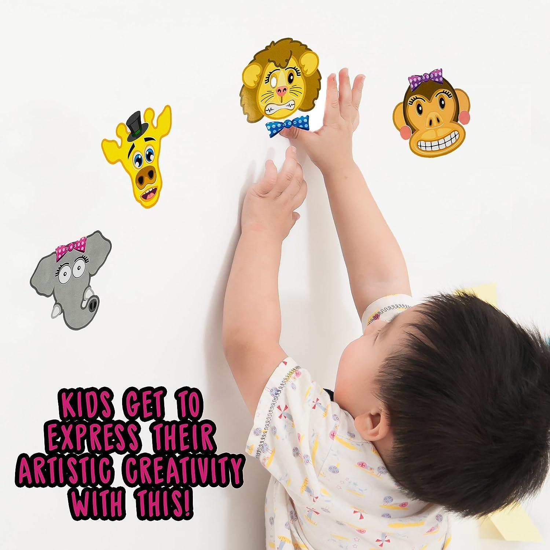 TAZEMAT 240 Pcs Autocollants de R/écompense pour Enfant Stickers Animaux Ronds de Louange pour Professeur Parent 3,5 cm de Diam/ètre Gommettes en Dessin Anim/é pour Ecole F/êtes