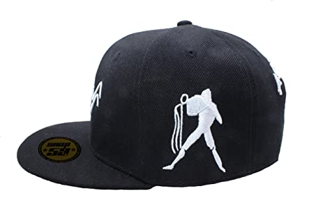 0a897fe80fd Baseball Cap Hat Zodiac 12 Constellation Hip Hop Snapback logos black white  (Aquarius)  Amazon.co.uk  Clothing