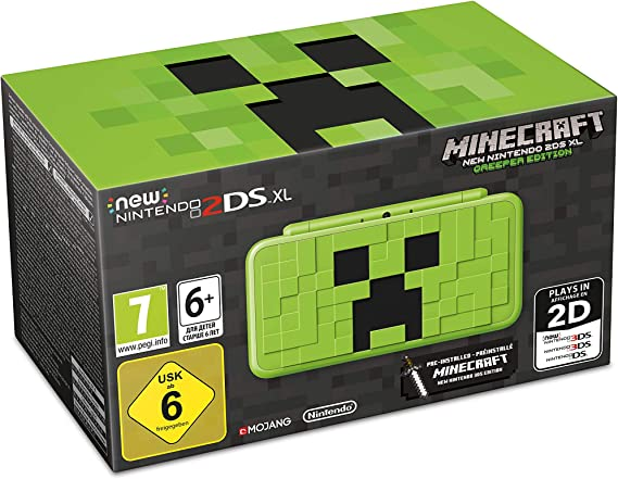 New 2DS XL Minecraft Edition + Minecraft (preinstalado): Nintendo ...