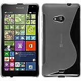 Funda de silicona para Microsoft Lumia 535 - S-Style transparente - Cover PhoneNatic Cubierta + protector de pantalla