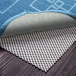 Veken Non-Slip Rug Pad 4 x 6 Ft Extra Thick Gripper for Any Hard Surface Floors, White