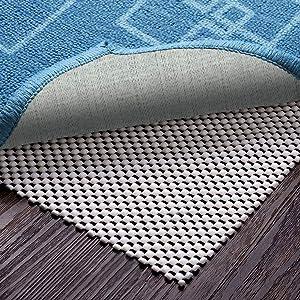 Veken Non-Slip Rug Pad 5 x 7 Ft Extra Thick Gripper for Any Hard Surface Floors, White