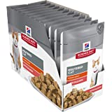 Hill's Science Diet Young Adult Wet Cat Food, Neutered Cat Salmon Cat Food Pouches, 85g, 12 Pack